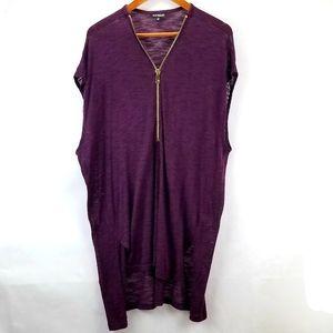Express Oversized Sweater Tunic Shawl Dress